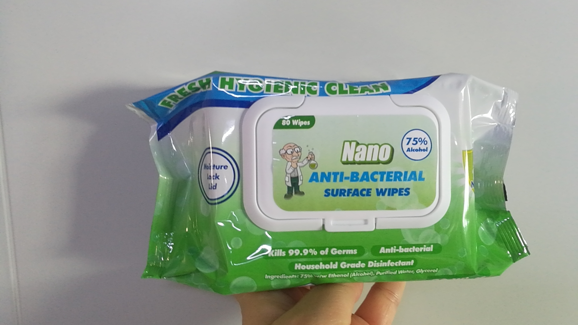 Protable Disinfectant Alcohol Wet Wipes