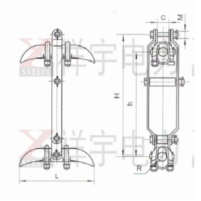 XCS Double Wire Suspension Clamp