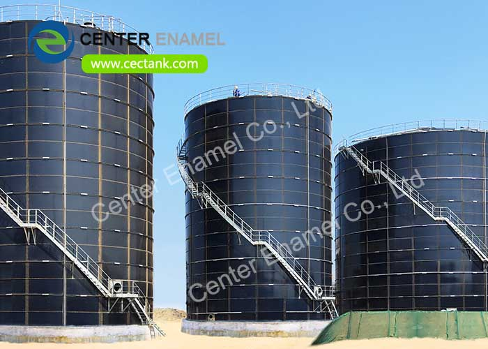 Glass Fused to Steel fire water storage tanks