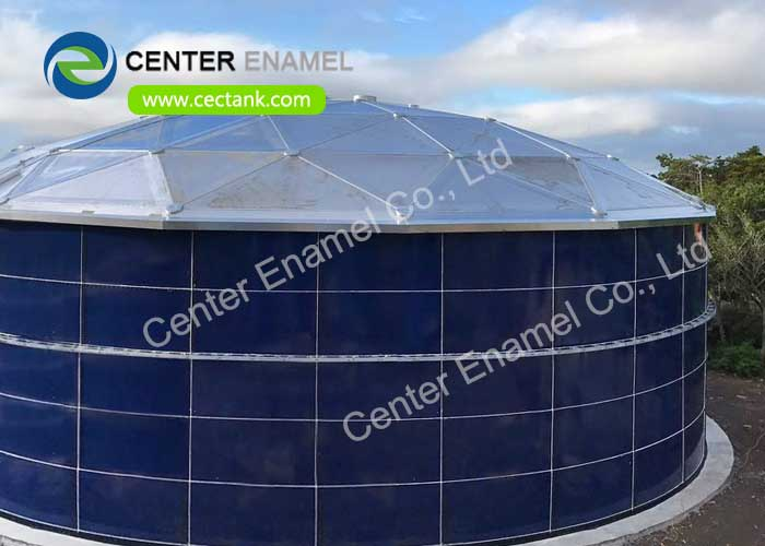 Glass Fused to Steel Wastewater Storage Tanks For Industrial Wastewater Treatment Plant