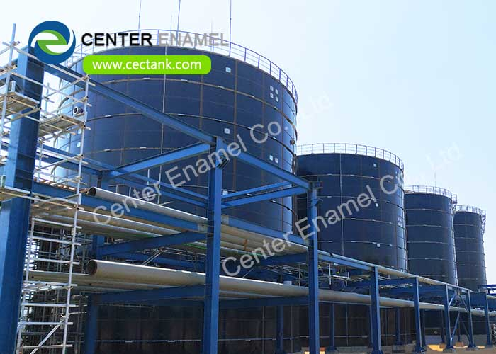 High air tightness Glass Fused to Steel Biogas Storage Tanks With Capacity From 20m3 - 20000m3