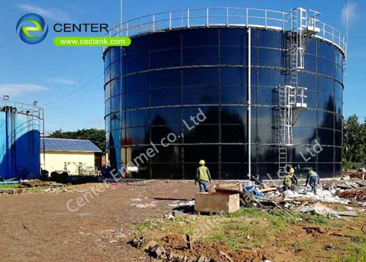 Glass Lined Steel Above Ground Storage Tanks For Industrial Wastewater Treatment Plant