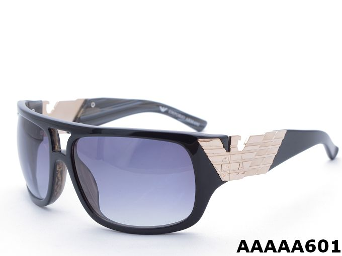 Armani GA601 Black Frame Golden Logo Sunglasses