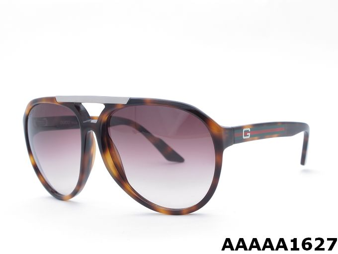 Gucci 1627 Coffee Frame With Flame Sunglasses