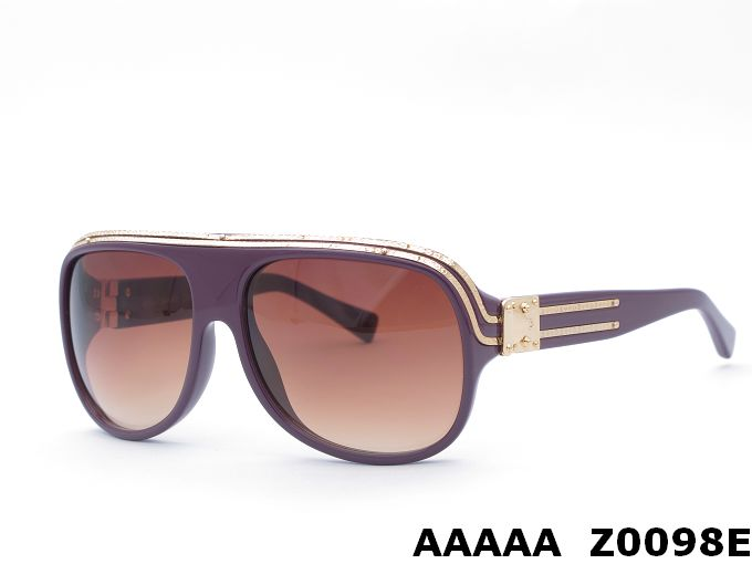 Louis Vuitton Purple With Golden Stripe Frame Sunglasses