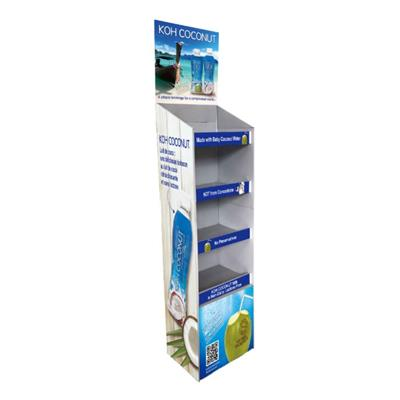 Marketing POP Up Cardboard Display Stand For Beverage And Drinks
