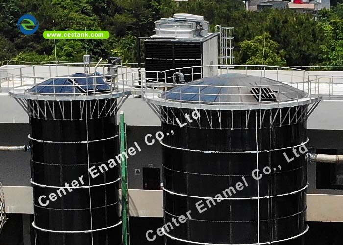 Glass Lined Steel Anaerobic Digestion Tanks For Large Biogas Plant