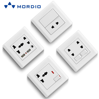 K1 Ghana UK Standard BRISTOL 1gang Switch Light and 5pin Multiple Sockets with 2.1A USB Outlets