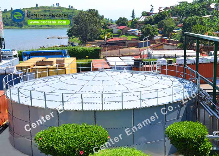 Customized Glass Fused to Steel Sludge Storage Tank With Membrane Roof Or Aluminum Roof