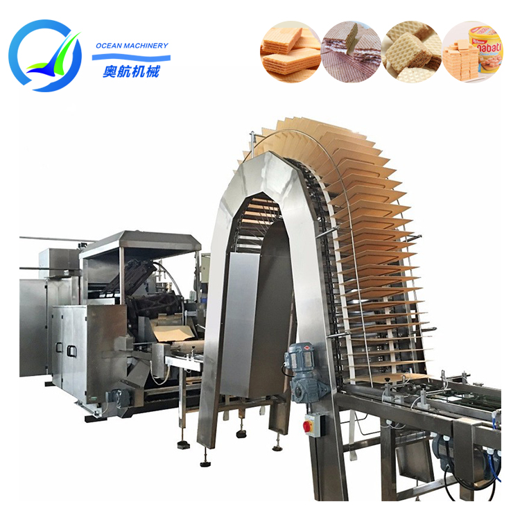 Automatic Chocolate Coated Biscuit Machine Small Capacity Wafer Biscuit Production Line