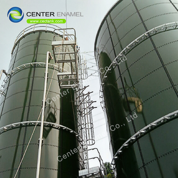 3,000,000 Gallons Glass Lined Steel Liquid Storage Tanks With Aluminum Alloy Trough Deck Roofs