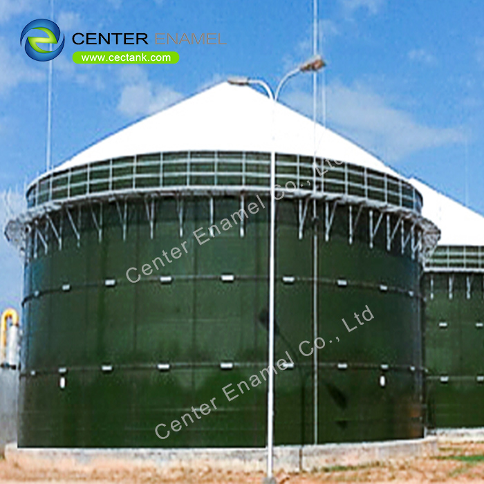 100 000 gallon Glass Fused to Steel Leachate Storage Tanks With 30 Years Service Life
