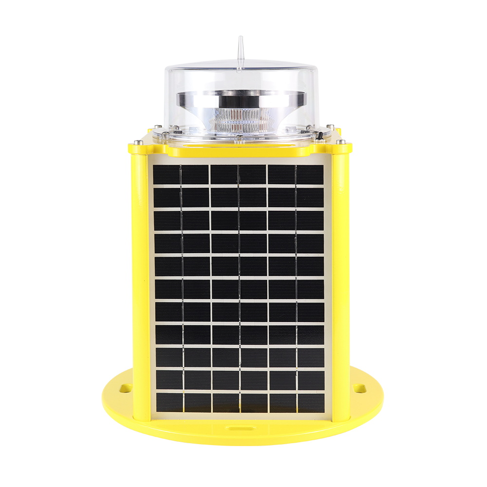 Type B High intensity aviation light solar powered White color