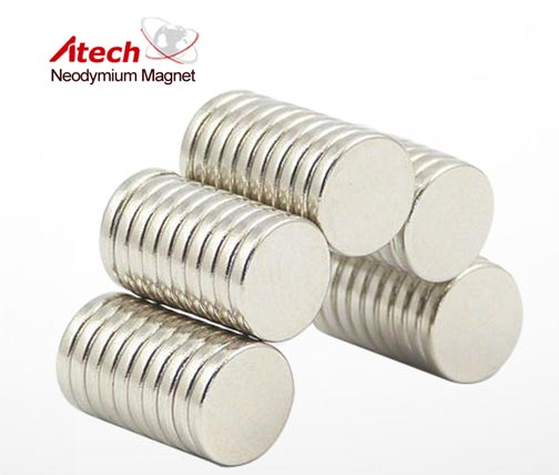 Round Magnet N42 1/2 inch x1/16 inch Industrial Magnets For Sale