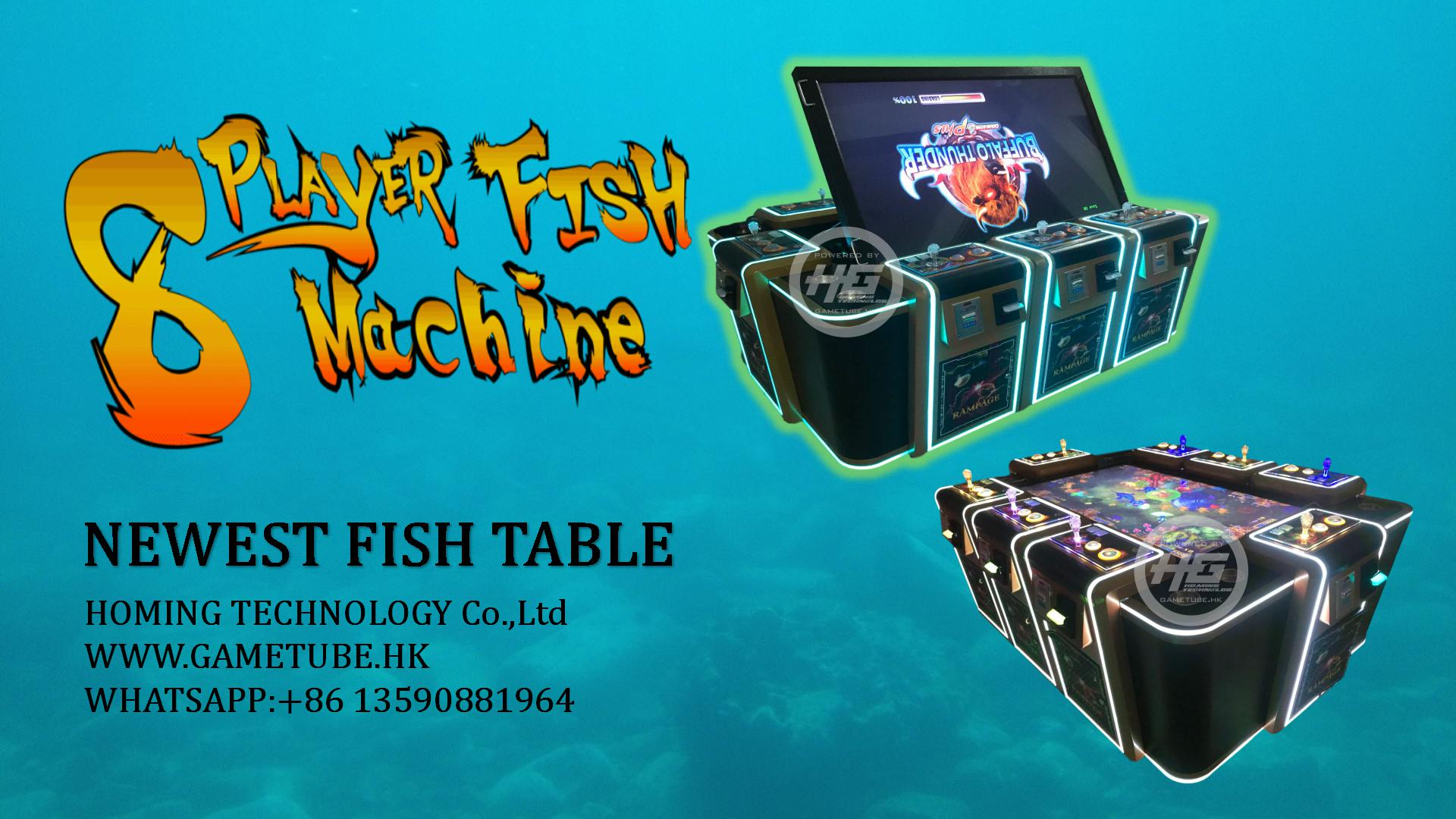 2020 New Design Luxury 8 Players Fish Table Game,Fish Cabinet,Fish Game Machine For Sale