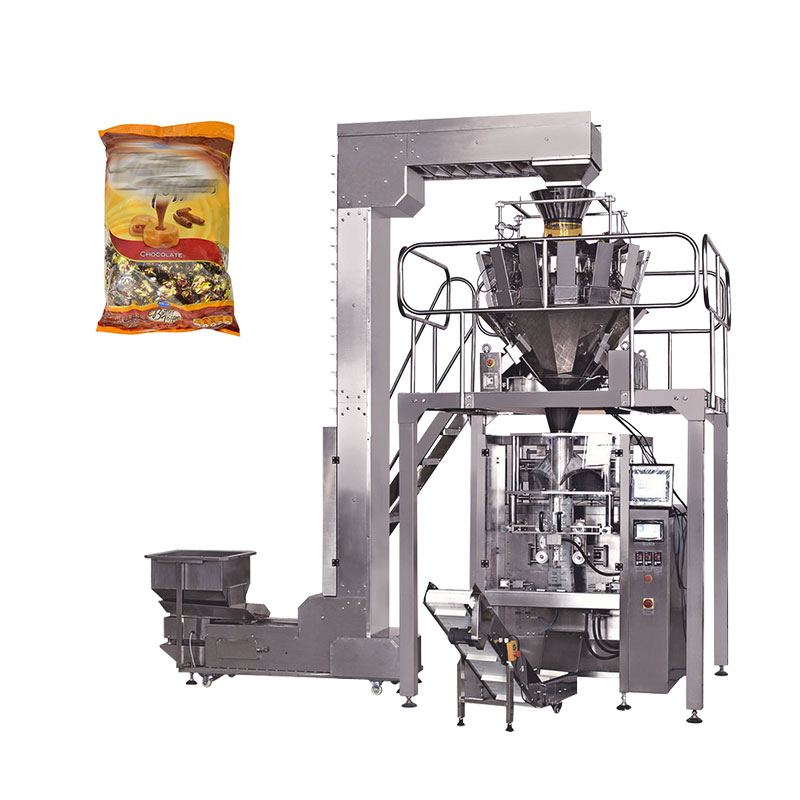 Automatic pillow plastic bag toffee gummy sugar packing machine