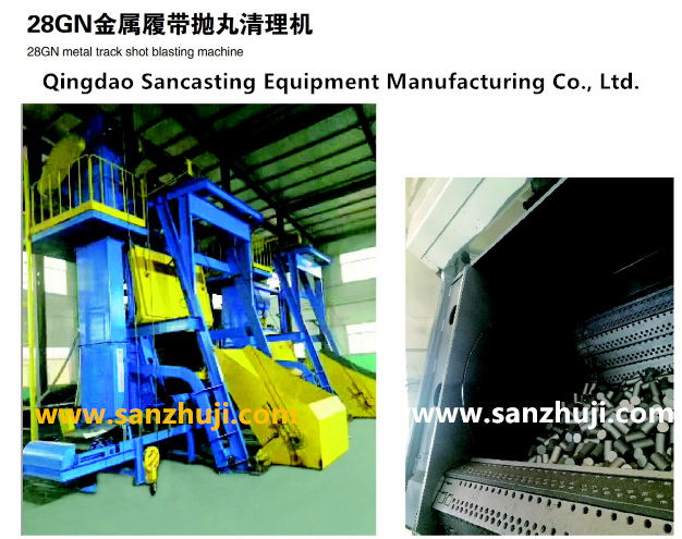 28GN metal track shot blasting machine