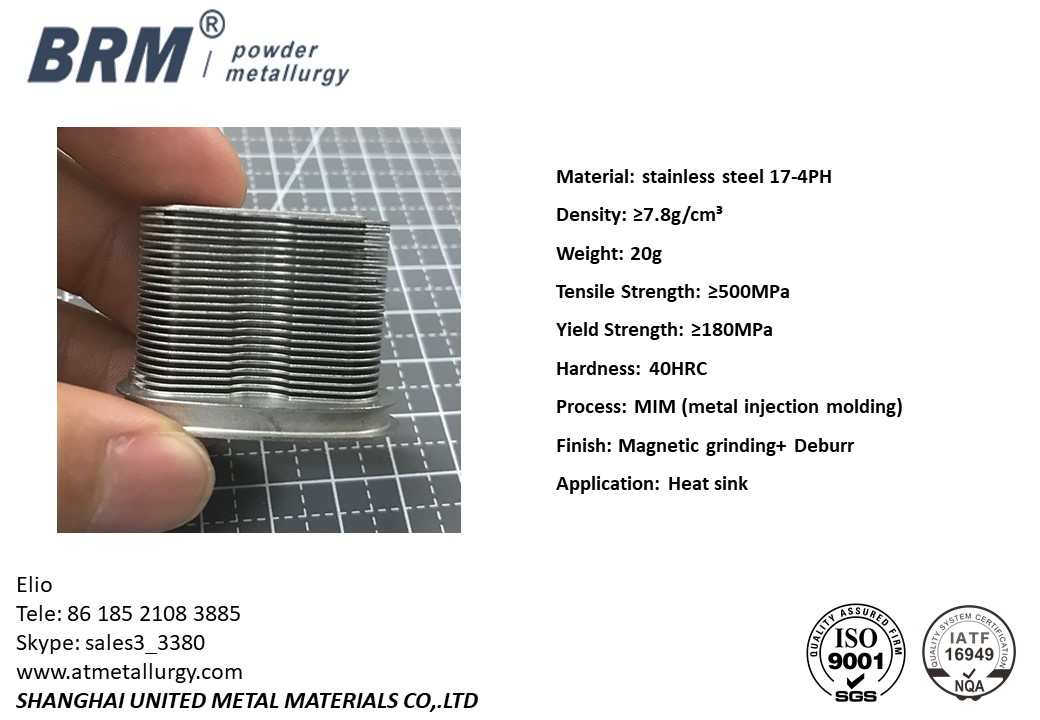 Press Sintered PM CPU Aluminum Heat Sink