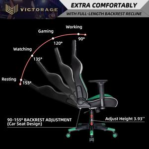Геймерское кресло VICTORAGE Alpha Series Ergonomic Design Gaming Chair(Green)
