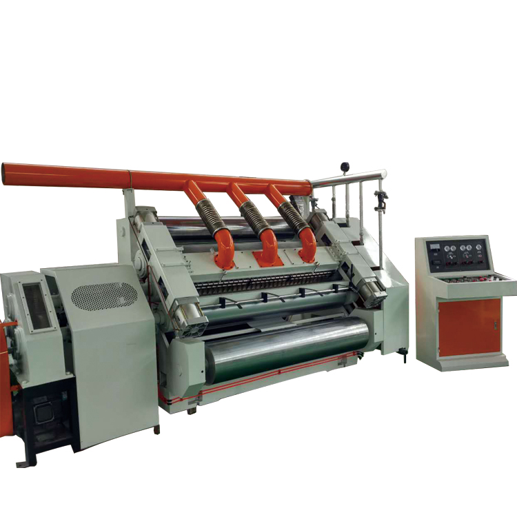 Finger Less Single Facer Corrugated Board Production Line For 2ply Paper