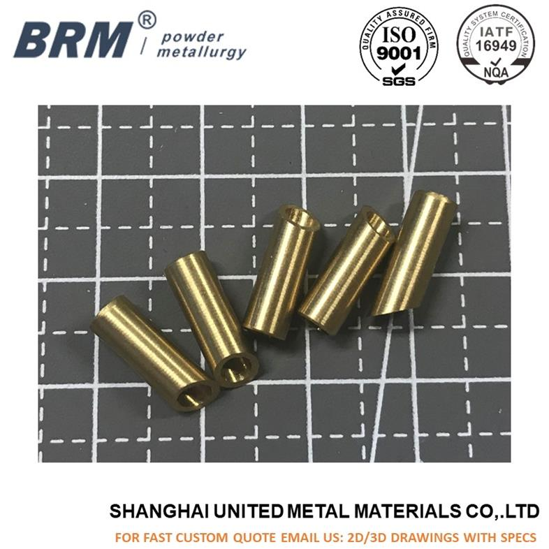 CNC machining CuZn36 brass bushing for automotive parts