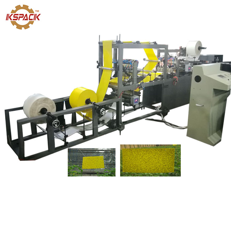15 - 30mm Width Rat Glue Trap Making Machine Yellow Fly PP Glue Trap Machine