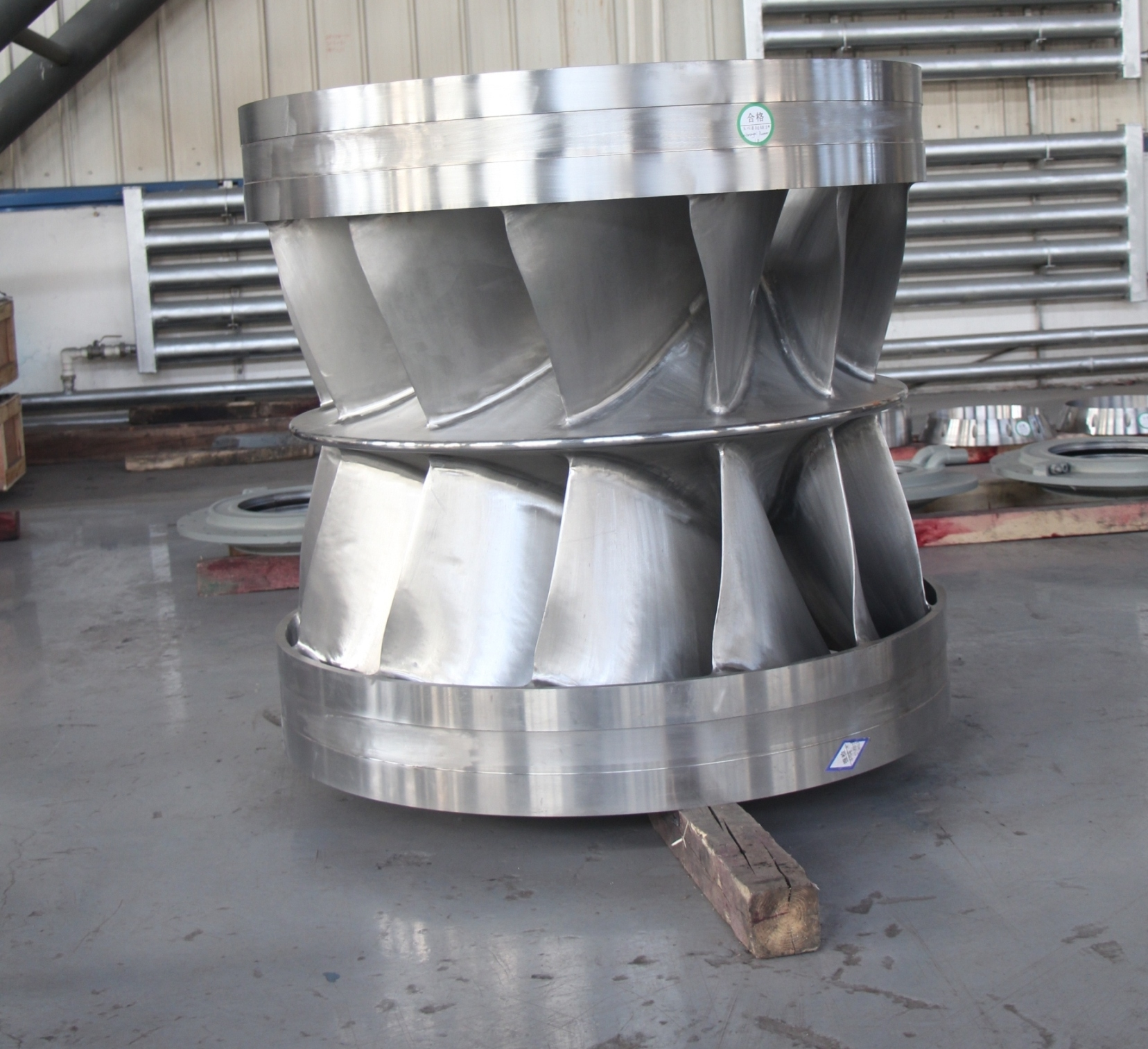 Double-structure Francis Turbine Runner for  Project in Papua New Guinea