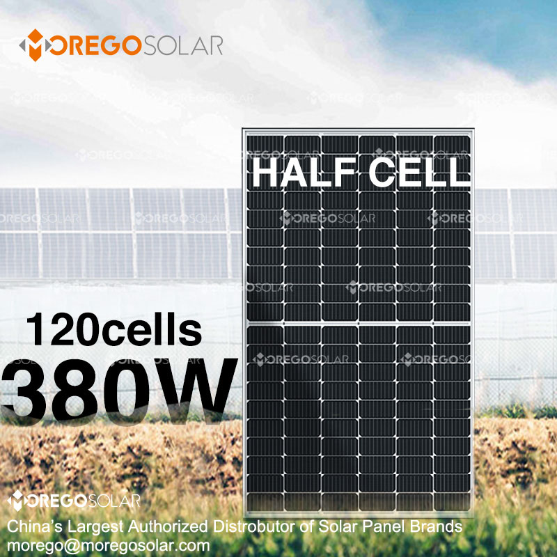 High efficiency 120cells half cell mono solar photovoltaic panels price 380W 375W 370w 365w 360w solar panel