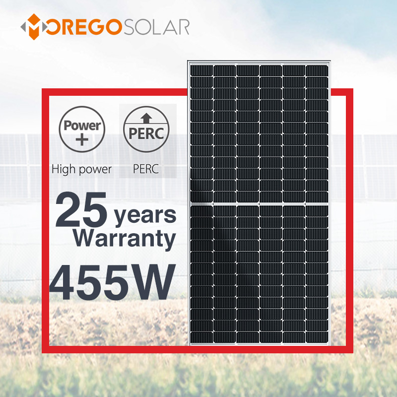 Moregosolar 9BB 166mm half cut solar panel 144 cell 440 watt 445 watt 450 w 455 watt solar cells pv mono solar panel