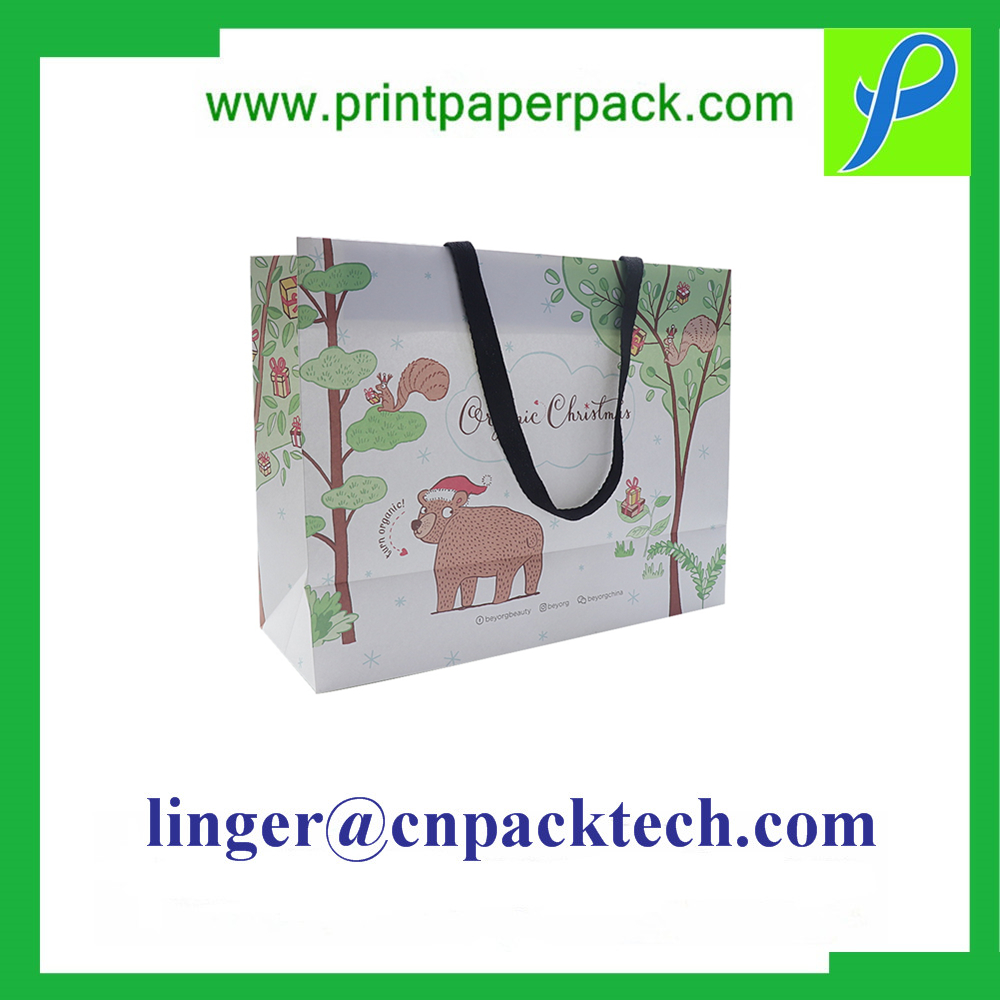 Customzied Material Shopping Paper Bag with Handle