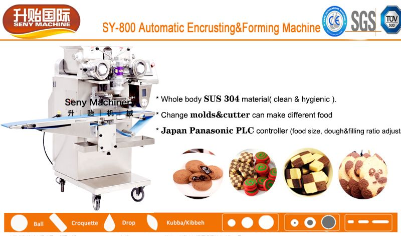 SY-800 Automatic chocolate-filled soft biscuit cookie encrusting machine