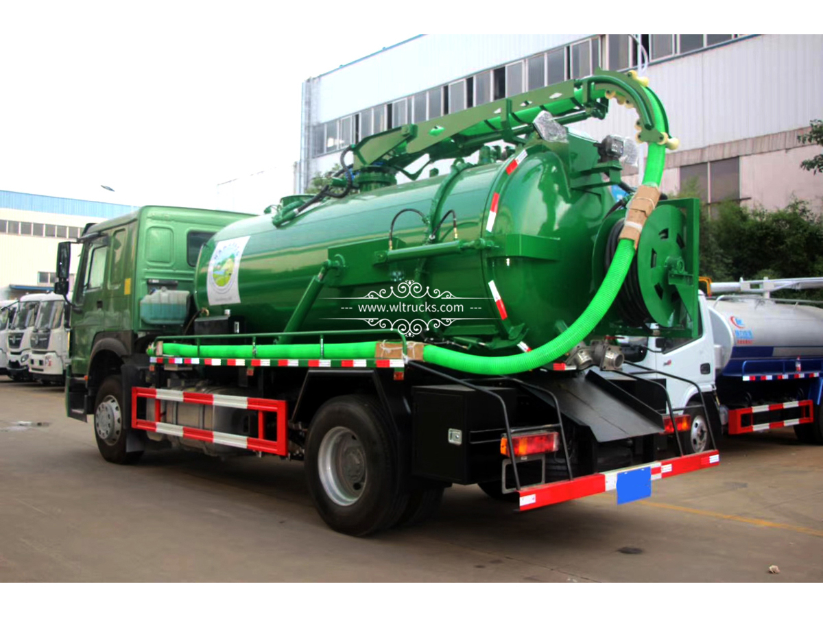 10,000 liters vacuum Sewage Suction Truck