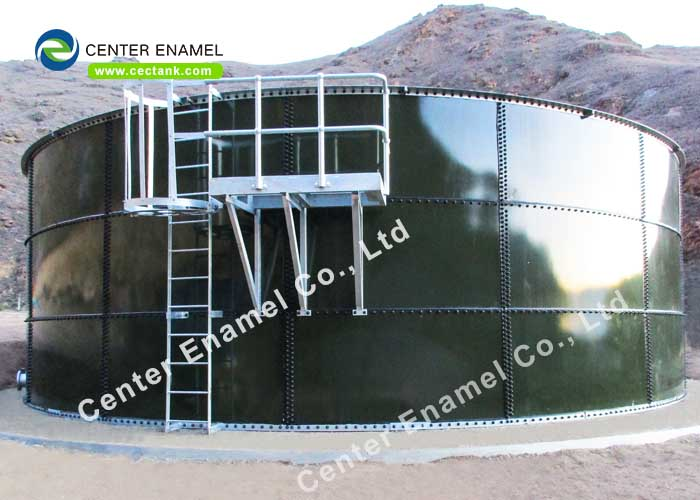 AWWA D103 / EN ISO28765 Standard Glass Fused Steel Tanks for Industrial Bulk Solid Storage Plant
