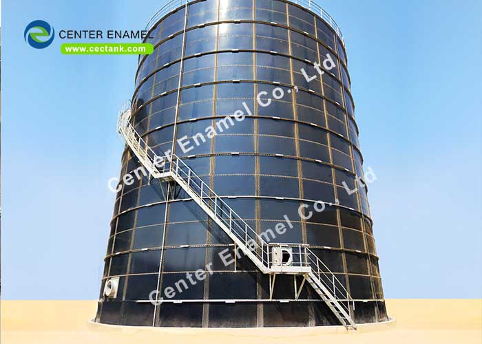 Glass lined SteeGlass lined Steel Fire Water Tank Can Resist Of Harsh Environment , Bolted Steel Water Storage Tanksl Fire Water Tank Can Resist Of Harsh Environment , Bolted Steel Water Storage Tanks