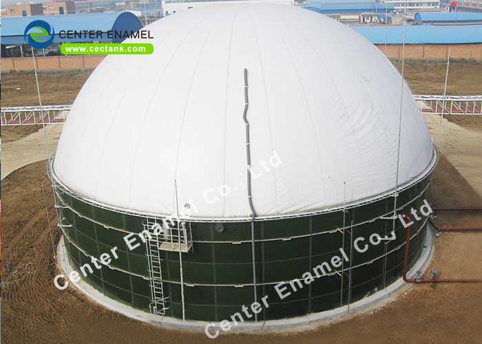 Steel Panel 6.0 Mohs Hardness Potable Water Storage Tank With Aluminum Dome Roof