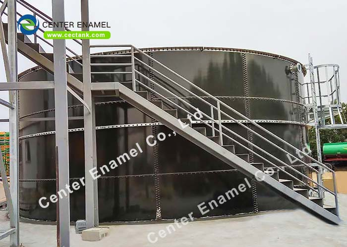 50000 Gallons Stainless Steel Potable Water Tanks With Aluminum Alloy Trough Deck Roofs