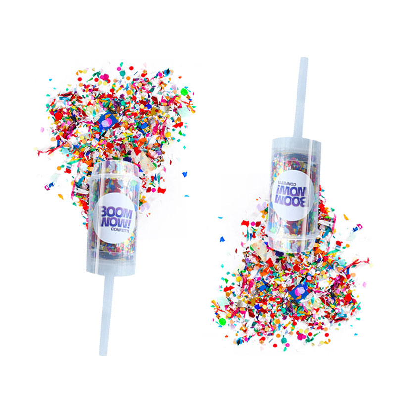 Boomwow Coloful Push Pop Party Poppers Confetti