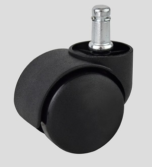 Hooded Twin Wheel Casters with Collar
