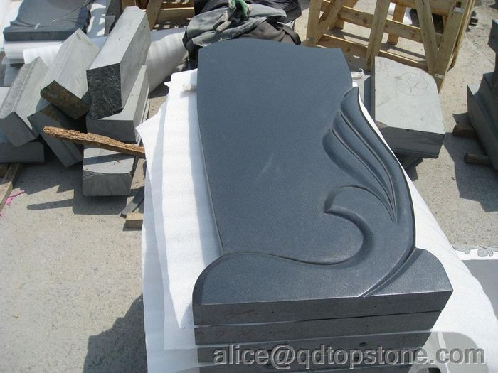 natural black granite monument
