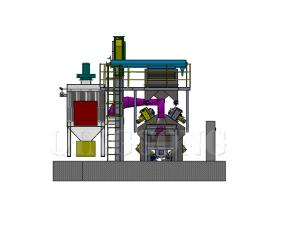 ANCHOR CHAIN SHOT BLASTING MACHINE