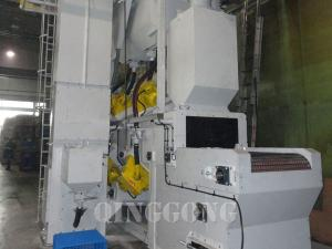 MESH BELT SHOT BLASTING MACHINE