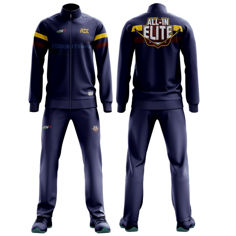 Custom Collegiate Basketball Full Zip Jackets and Pants sublimation print