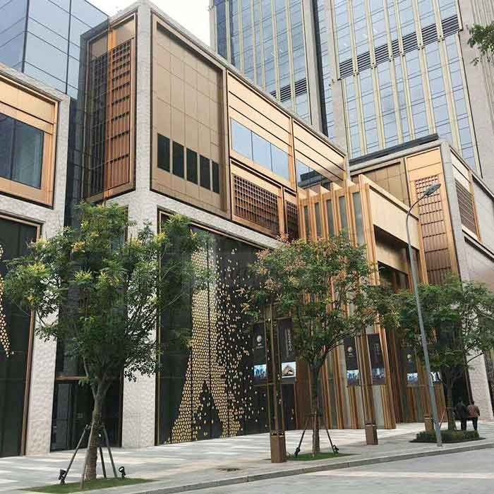 wood grain aluminium composite panel