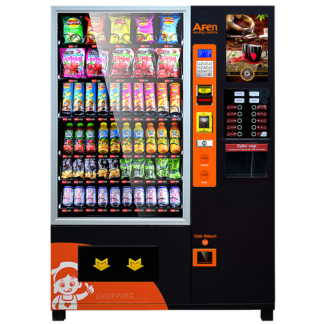 Coffee and Snacks Combo Vending Machine