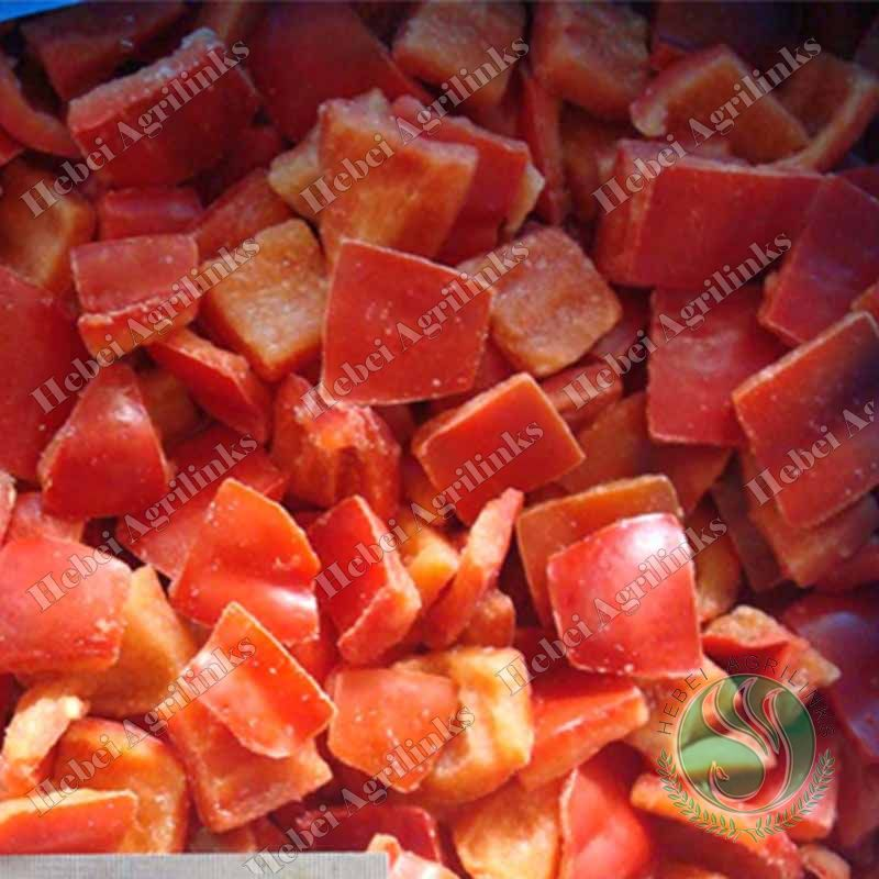 Frozen Red Pepper cubes