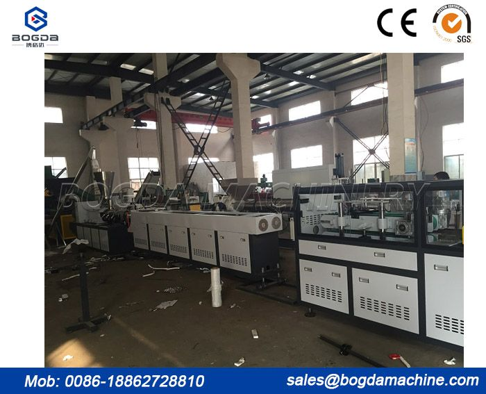 PVC electric conduit pipe making machine / Double pipe extrusion line
