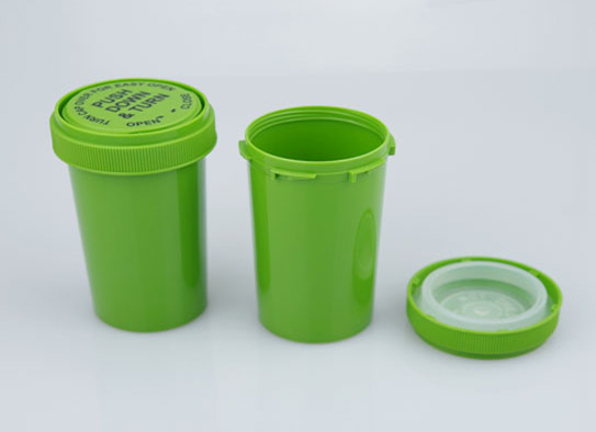 Plastic Container Child Proof Jar