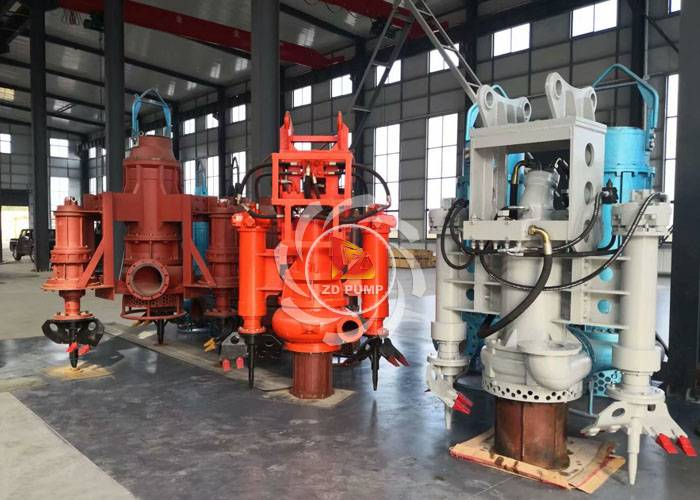 vertical submersible hydraulic sand pump equipment with excavator