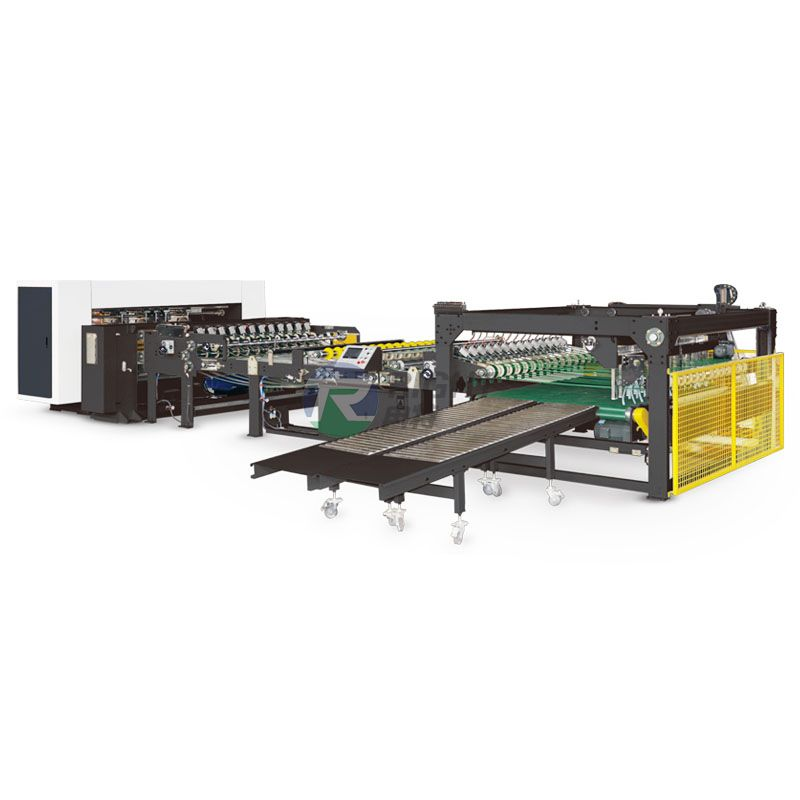 Fully automatic single corrugated slitting cutting stacking machine