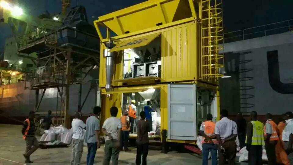 Containerised Bagging System for fertilizers